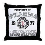 Property of Dharma - Staff Throw Pillow