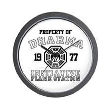 Property of Dharma - Flame Wall Clock
