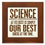 Science at Its Best Framed Tile