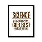 Science at Its Best Framed Panel Print