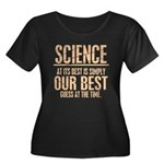 Science Women's Plus Size Scoop Neck Dark T-Shirt