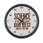 Science at Its Best Large Wall Clock