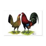 American Gamefowl Pair Mini Poster Print