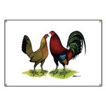 American Gamefowl Pair Banner