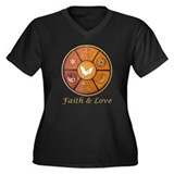 "Interfaith ""Faith & Love"" Women's Plus Size V-Neck"