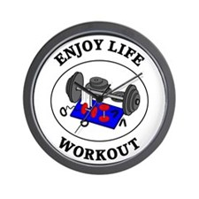 Enjoy Life Workout Wall Clock