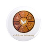 """Celebrate Diversity"" 3.5"" Button (100 pack)"