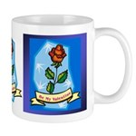 Be My Valentine Rose - Blue Mug