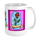 Be My Valentine Rose - Red Large Mug