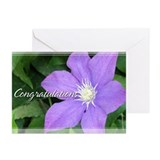 Purple Clematis Congratulations Cards 5x7 (20 Pk)