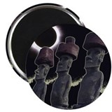 "Easter Island Eclipse-Moai 2.25"" Magnet (10 pack)"