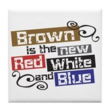 Scott Brown Patriotic Tile Coaster
