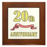 20th Wedding Anniversary Framed Tile