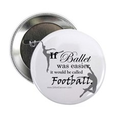"""If Ballet Was"" 2.25"" Button"