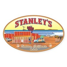 Stanley's Diner color Oval Decal