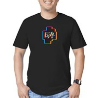 Blurry G4 - Men's Fitted Black T-Shirt