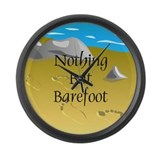 Nothing But Barefoot Large Wall Clock