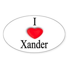 Xander Oval Decal