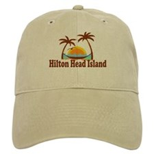 Hilton Head Island SC - Sun and Palm Trees Design