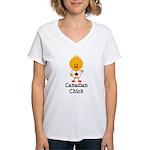 Canadian Chick Women's V-Neck T-Shirt