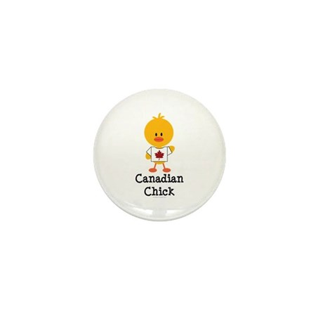 Canadian Chick Mini Button