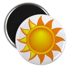 Yellow Sun Magnet