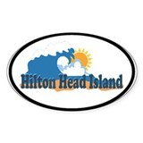 Hilton Head Island SC - Beach Design Decal