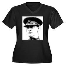 Cute Collin Women's Plus Size V-Neck Dark T-Shirt