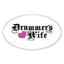 Drummer's Wife Oval Decal