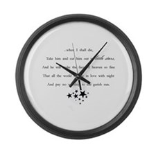 Little Stars Large Wall Clock