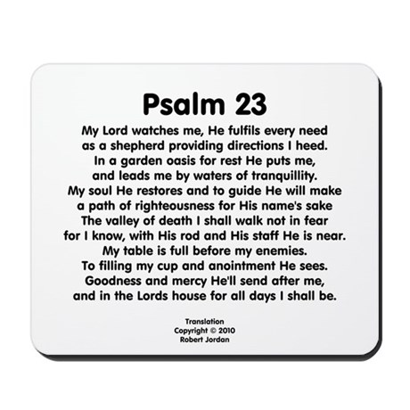Psalm 23 Mousepad