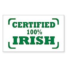 Irish Rectangle Sticker 10 pk)