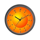 Orange Dome Light Curious Wall Clock