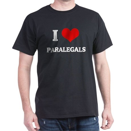 I Love Paralegals Black T-Shirt