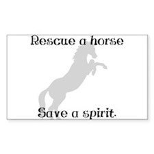 Rescue Grey Rectangle Decal