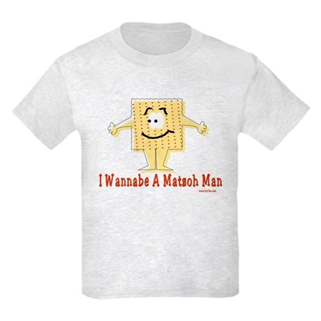 Wannabe Matzo Man Passover Kids Light T-Shirt