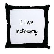 I love McDreamy Throw Pillow