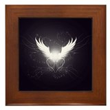 Funny Angel wings Framed Tile