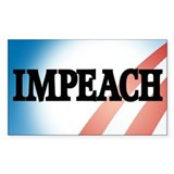Anti-Obama: Impeach! Rectangle Decal