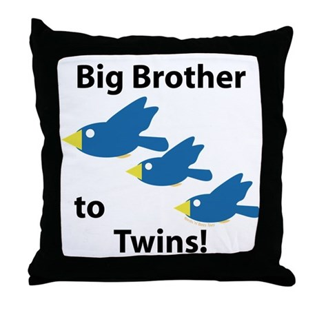 Big Brother to Twins Throw Pillow