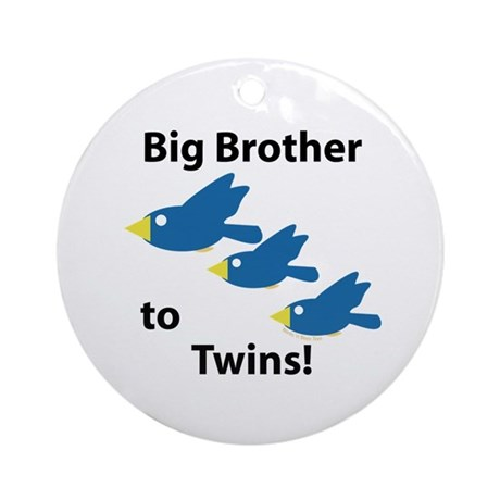 Big Brother to Twins Ornament (Round)