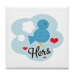 Matching Love Bird Hers Tile Coaster