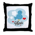 Matching Love Bird Hers Throw Pillow
