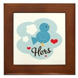 Matching Love Bird Hers Framed Tile
