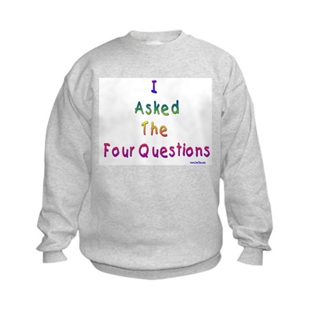 4 Questions Passover Kids Sweatshirt