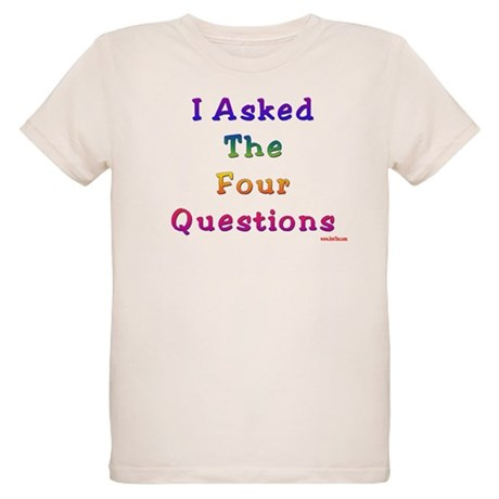 Four Questions Passover Organic Kids T-Shirt