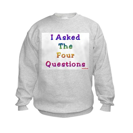 Four Questions Passover Kids Sweatshirt