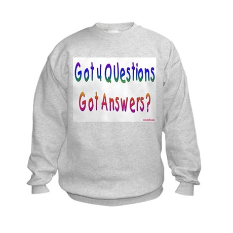 4 Questions Answers Passover Kids Sweatshirt