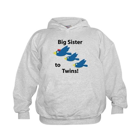 Big Sister to Twins Kids Hoodie