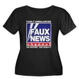 Faux News (Fox) Women's Plus Size Scoop Neck Dark